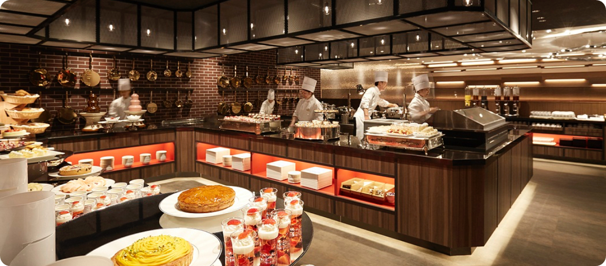 サンシャインシティプリンスホテル 「カフェ&ダイニング Chef's Palette」 スイーツ&ディナーブッフェ 10%OFF